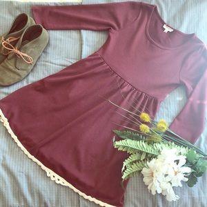 Hayden- Maroon dress